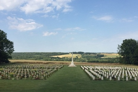 Soldiers' graves at Thiepval, France