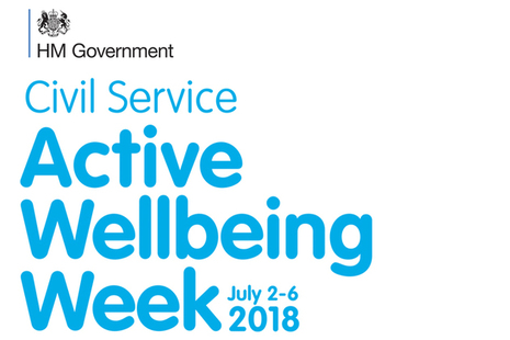 Civil Service Active Wellbeing Week 2018 graphic