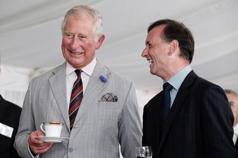 The Prince of Wales with Welsh Secretary Alun Cairns