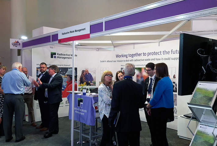 Delegates visit Radioactive Waste Management's stand at the 2018 LGA Conference
