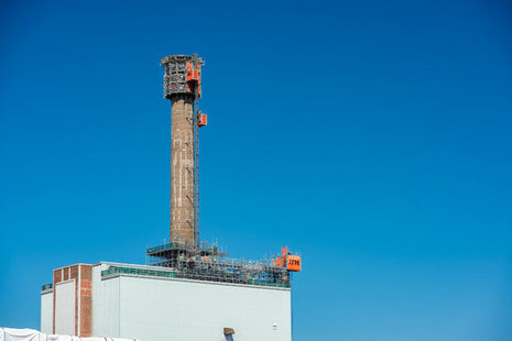 Sellafield's biggest chimney chopped down to size