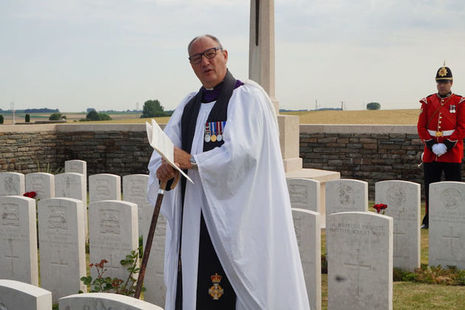The Reverend Andrew Earl, Chaplain HQ NW Brigade conducting the ceremony for Lieutenant Charles Stonehouse, Crown Copyright, All rights reserved