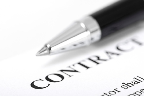 generic image of contract
