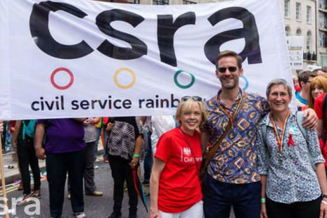 Three Civil Service Permanent Secretaries at Pride London 2017