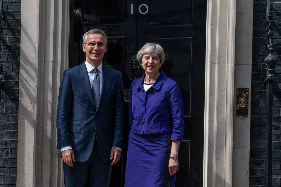 Prime Minister Theresa May with NATO Secretary General Jens Stoltenberg