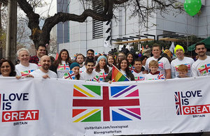 British Embassy staff at Pride Parade