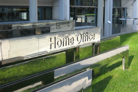 Home Office sign outside 2 Marsham Street