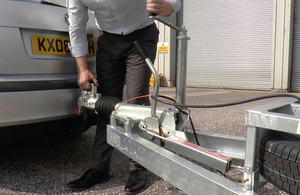Connecting a car and trailer
