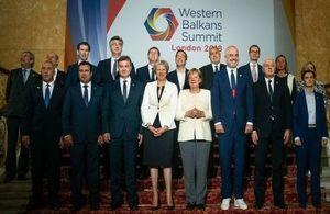 Western Balkans Summit leaders family photo