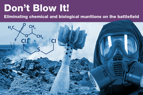 Safely eliminating biological and chemical munitions on the battlefield