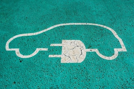 Image of an electric car charging point