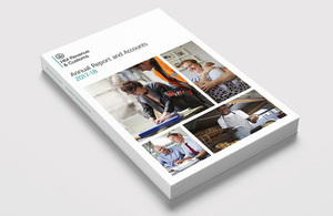 Front cover of 'HMRC annual report and accounts: 2017 to 2018'