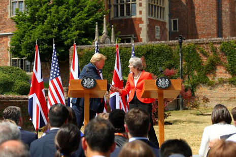 Prime Minister May and President Trump at Chequers