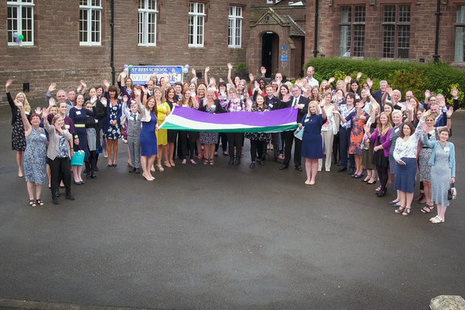 Trudy Harrison MP has been joined by nuclear organisations to welcome the official suffrage flag to Cumbria.