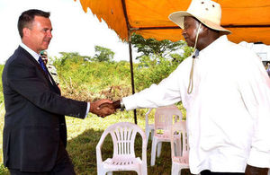 Lancaster MP and President Museveni