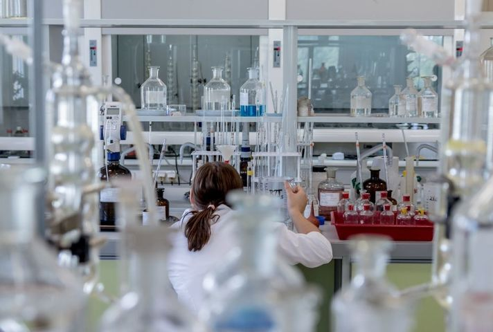 Image of lab technician working