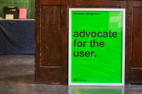 "A poster saying ""Advocate for the user"""