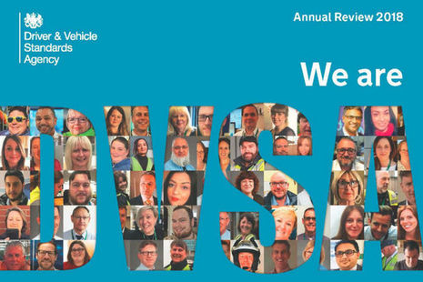 DVSA annual review front cover