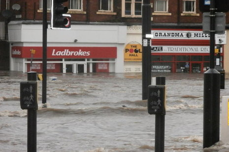 Flooding in Rochdale on Boxing Day 2015