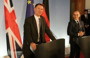 Read 'Foreign Secretary visits Berlin for talks with German Minister of Foreign Affairs'