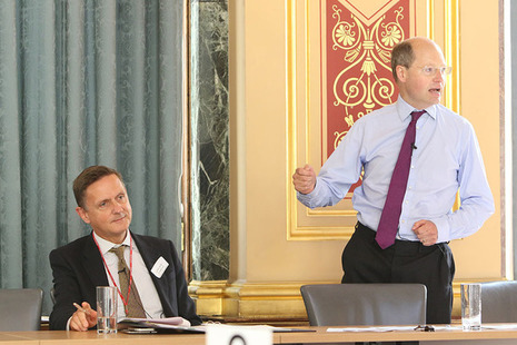 Jonathan Jones and Philip Rutnam at Civil Service mental health conference