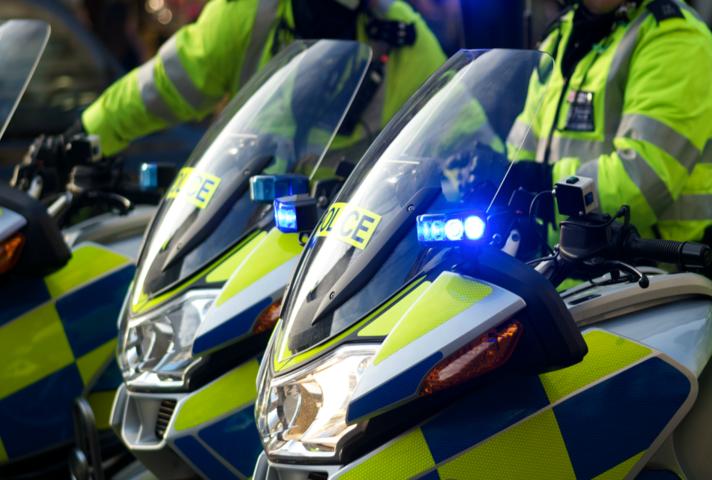 Police in motorbike