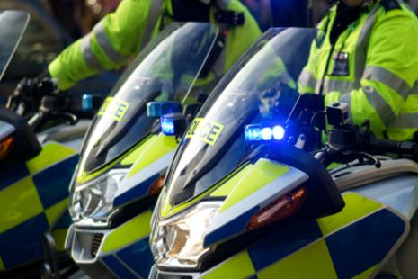 Police on motorbike