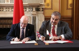 Read the Rt Hon Alistair Burt, Minister of State for the Middle East co-hosted the UK - Bahrain working group with the Bahraini Foreign Minister Sheikh Khalid Bin Ahmed Bim Mohammed Al Khalifa.