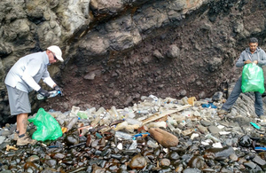 Recent efforts to clean up years of marine debris (Credit: St Helena National Trust marine team)