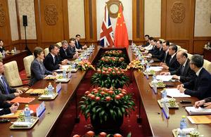 Foreign Secretary visits China