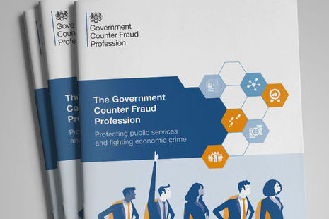 Front cover of Government Counter Fraud Profession brochure