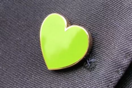 Picture of Green For Grenfell heart shaped badge