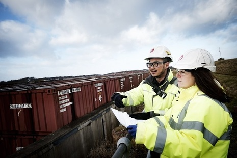 Engineers observing work at the Low Level Waste Repository