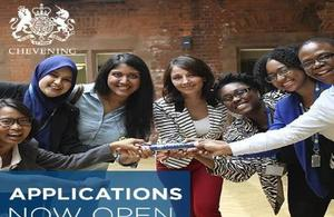Applications for Chevening Scholarships open 6 August 2018