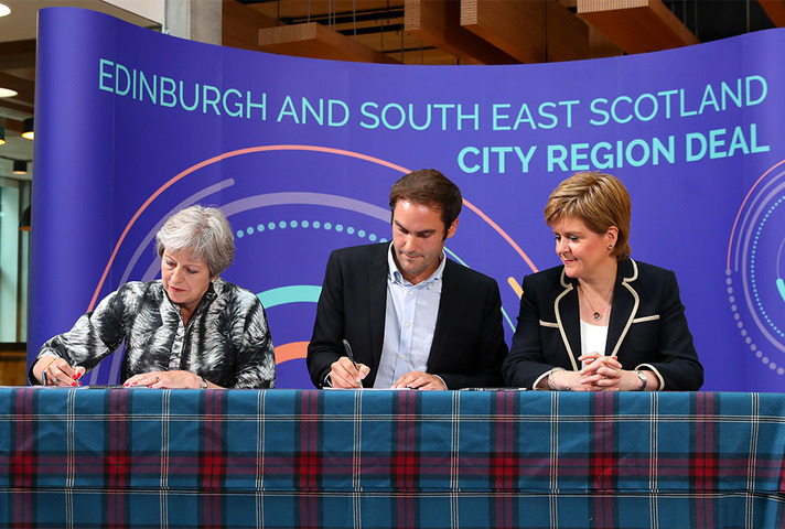 PM signing Edinburgh and South East Scotland City Deal