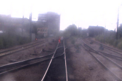 Image from forward facing CCTV showing the incident (image courtesy of London North Eastern Railway)
