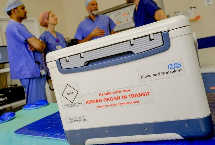 box for transporting organs for transplant