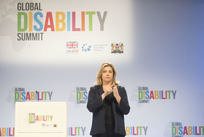 Penny Mordaunt opens Global Disability Summit