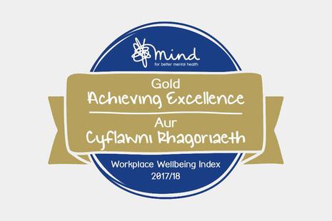 Mind Gold award badge.