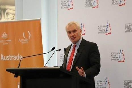 Trade Minister Graham Stuart promoting opportunities for UK firms at Austrade.