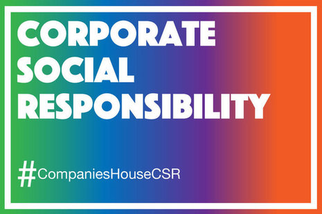 Corporate social responsibility title image.