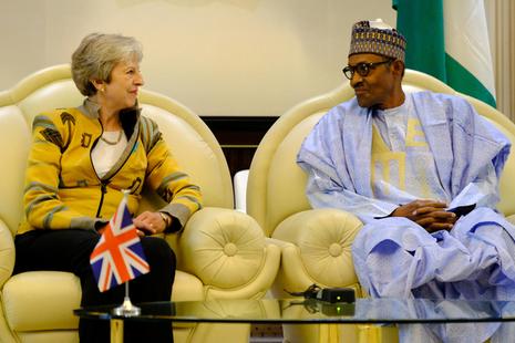 Prime Minister Theresa May meeting President Buhari of Nigeria