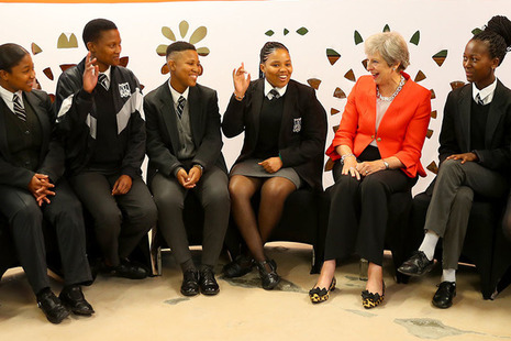 PM Theresa May in Africa