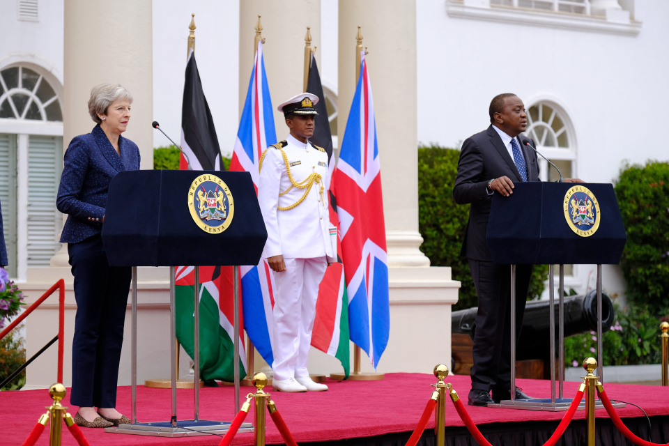Prime Minister Theresa May and President Uhuru Kenyatta