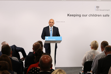 Sajid Javid NSPCC speech
