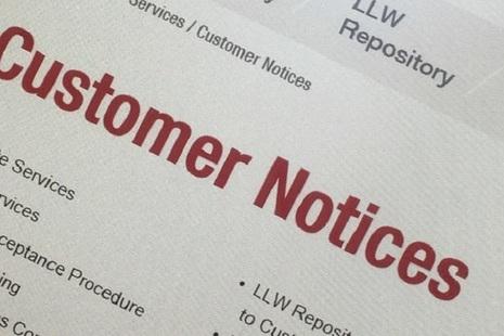 customer notice image