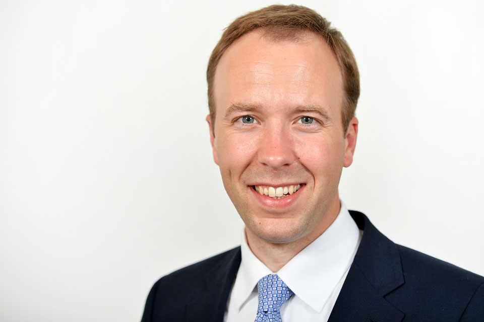 Matt Hancock, Secretary of State for Health and Social Care