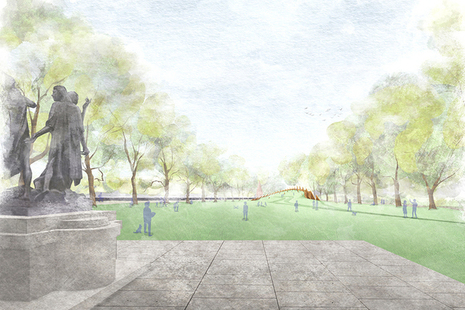 Artist's impression of the proposed memorial.