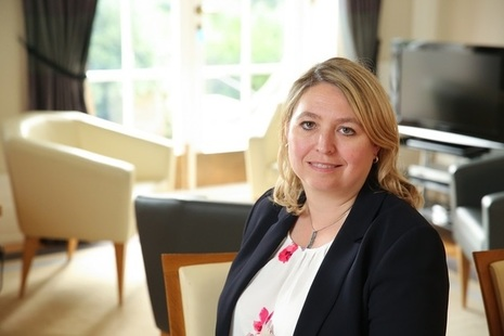 Secretary of Sat Karen Bradley photographed at Stormont House