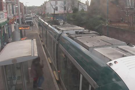 Image showing the tram at Radford Road tram stop